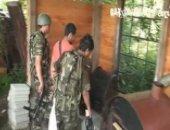 military boys arrest a twink