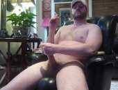 Amateur Smoking Jock Jerking Off His COck.