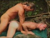 Horny MAture Guys Having a nice Outdoor Anal Fuck.