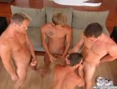 Hot Guys Having a nice Group Blowjob Party.