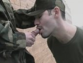 Horny Military Guy Giving His Buddy a nice Blowjob.
