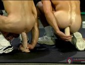 Horny Guys Jerking And Rider Their Dildo.