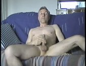 Amateur Old Guy Jerking Off His COck.