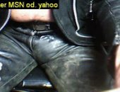 Amateur Leather Guy On Webcam.