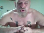 Mature Punks Guy on Webcam.