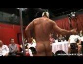 Horny Gays Sucking a Male Stripper.