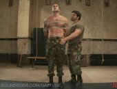 Hot Military Guy Got Tied and Sucks Cock.