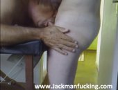 Hot Mature Guy Giving Him a Nice Blowjob.