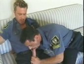 Horny Police Man Sucking COck.