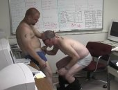 Horny Guys Sucking Cock in the Office.