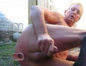 Horny Mature Guy Toying His Ass.