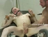 Horny Guy Tied Up and Gets Humiliated.