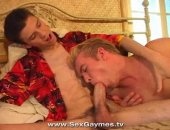 Blonde Gay Sucks Cock and Gets Fucked.
