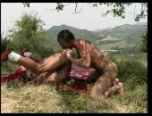 Two Horny Guys Licking ass and having anal fuck outdoor.