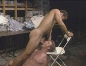 Amateur Couple Fucking in the Stockroom.