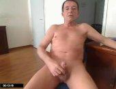 Old Man masturbating solo on cam.