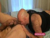 Older guys licks out hairy ass