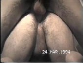 cute bf hops on top a hard dick to get it deep in his ass.