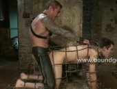 young twink gets bound and fucked up his ass.