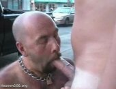 this hot cock gets sucked out on the streets in public