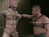 Gay hunk turned into sex slave my sado maso master that fucks him in forced bondage after spanking his tied body