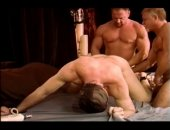 CBT first timer is a hot muscular dude with a big cock.  I get him into my dungeon and then put him through a tough bondage and TESTICLE PUNISHMENT he will not soon forget.