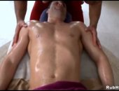 Cock hungry masseuse hunk sucks clients cock at massage