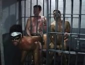 a nice gangbang in a cell