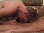 stuffing a cock way down his throat