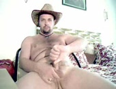 hot masturbating cowboy getting it on.