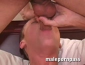 jerking a nice load out of a cock