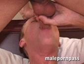 Twinks sucks a Hot cock deep down throat