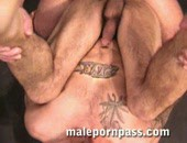 Buff, built, tattooed, hung, and reeking of straight stud, Gill, opens his soloscene and cum on a car hood. It follows another hot scene with Jack Van Dean topping his eager bottom.