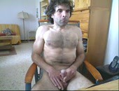 Horny amateur hairy athletic dude masturbates on cam