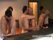 6 Man Orgy - 3 gay couples in a 6 way man train