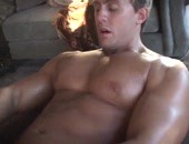Hot muscled amateur hunk stroking one out and shooting a massive load