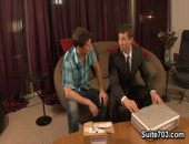 Jayden Grey and Rusty Stevens - hot gorgeous older amateur men in suits getting hot and horny