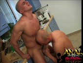 Shaved studs together sucking cock and loving it