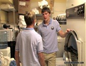 First Day Of Work At The Hotel - young amateur twinks really like working in the laundry room