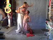 Nude amateur model photo shoot