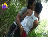 Asian amateur dudes stop their bike ride and fuck in the forest