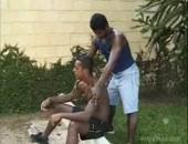 black man working hard