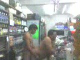 Spanish couple fuck in the supermarket after hours.