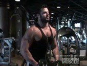 Gets his flex on after the gym.