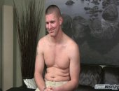 "This is Eli's third shoot, and this time he agreed to get massaged and jerked off by a guy for the first time. Not that Eli is a stranger to the release of a happy ending. When the 6 foot Marine was stationed in Japan, he got his monster cock jerked off by Japanese women, an experience he described as a ""nice way to experience the culture."" I'd say.  I started Eli off slow, getting him comfortable by massaging his shoulders, his back, his legs, and his feet (size 11. Maybe it's true wh"