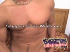 Sexy Mike of Saggers Gone Wild really knows how to tease...to see him stroke his huge Latin cock.