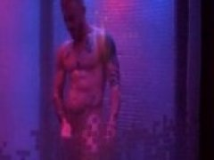 Dancing in the shower at Wet Dreams in Mexico! Sexy Stud gets in and starts whipping his cock around the shower.