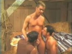 Its an eruption of raw heated sexual energy when two worlds collide! Farmhand Brett Dimineo fears losing his job, then discovers a secret door into the hidden barn orgy!