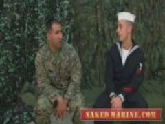 Weve got studly James Toro back on the military cot to get the 3rd blowjob ever and his 1st time on camera. Corpsman Tanner lends his impeccable...