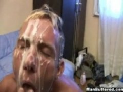 My gay lover want some nice anal fucking with huge unloading of hot sperm in his ass and on his face. See us fucking and sucking with messy big...